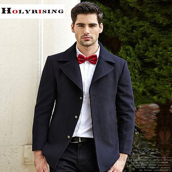 Men wool coat casual jacket  woolen coat hombre pea coat winter coat