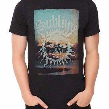 SUBLIME SUN LOGO SUNSET -LBC- T-Shirt NWT Rock Band 100% Authentic & Official