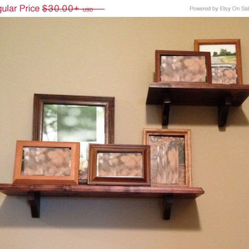 Handcrafted pine wall shelf