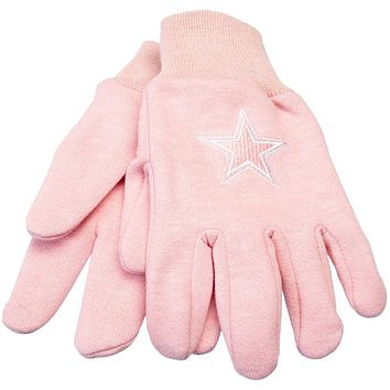 Dallas Cowboys - Logo Pink Utility Gloves