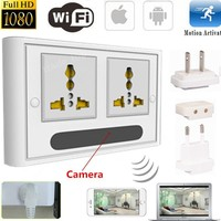Mini 1080P WIFI HD SPY DVR Hidden IP Camera Real Wall Socket Video Recorder Cam