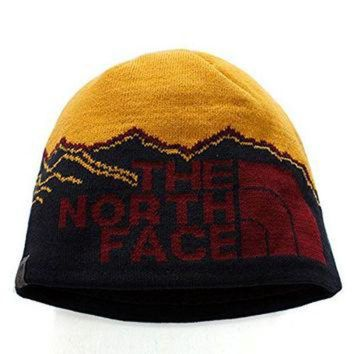 DCCKIJG The North Face Winter Thicken Polar Fleece Thermal Beanie Hat (Yellow-Black, One Size)