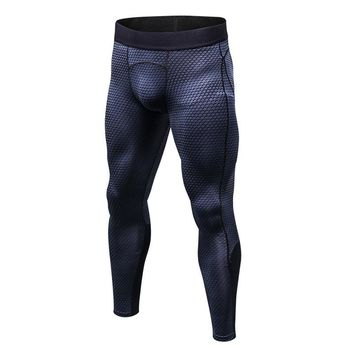 Man 3d Three-dimensional Printing Pro Elastic Force Close Trousers Tight Trousers Sport Leggings Breathable Wicking Gym Fitness