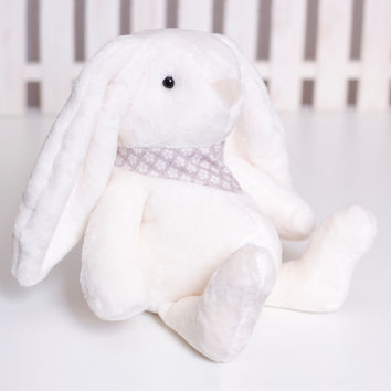 Fluffy Bunny Sewing Pattern, Soft Animal PDF Tutorial, Bunny rabbit softie, Stuffed plush Sewing, Handmade DIY Bunny Rabbit