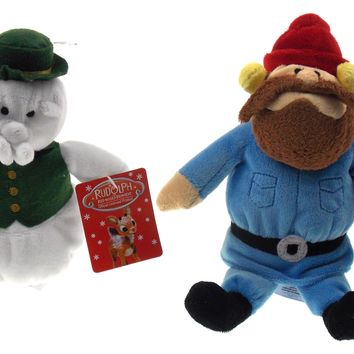 Rudolph The Red Nosed Reindeer Sam Snowman Yukon Cornelius Plush Set Misfit Toys