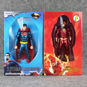 18cm Justice League Figure Toy Superman Flash Crazy Toy Superman Man of Steel Cool Model Doll 1/10 Action Figures