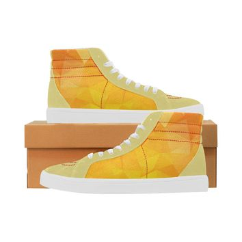 Tangerine Women's Capricornus High Top Suede and Canvas Shoes
