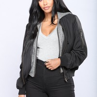 Tanya Bomber Jacket - Black