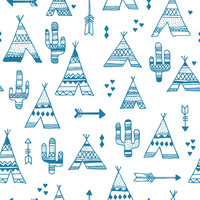 TeePee City Removable Wallpaper