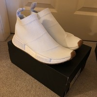 ADIDAS NMD CS1 CITY SOCK PK PRIMEKNIT WHITE GUM UK 8
