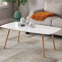 Contemporary Coffee Table Stylish Living Room Furniture White Piano Finish New