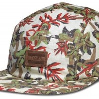 Jungle 5 Panel Hat - Floral Lime