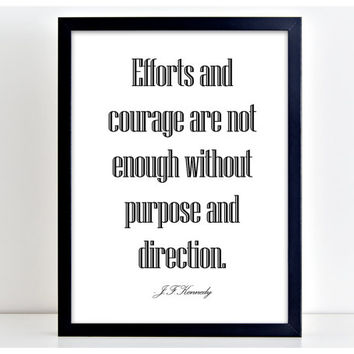 Efforts And Courage Print Motivational Poster Wall Art Print Kitchen Quote Motivation Famous Wall Sign Letters Home Decor PP33