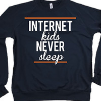 Internet Kids Never Sleep Crewneck Sweatshirt - ConnorFranta - Official Online Store on District LinesDistrict Lines