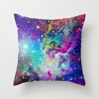 Fox Fur Nebula Throw Pillow by Starstuff | Society6