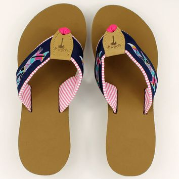 """Longshanks"" Ribbon Sandal  by Eliza B. and Country Club Prep"