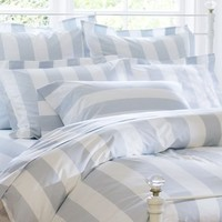 PB Classic Stripe 400-Thread-Count Duvet Cover & Sham - Porcelain Blue