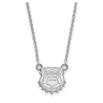 NCAA Sterling Silver U of Georgia Small Pendant Necklace