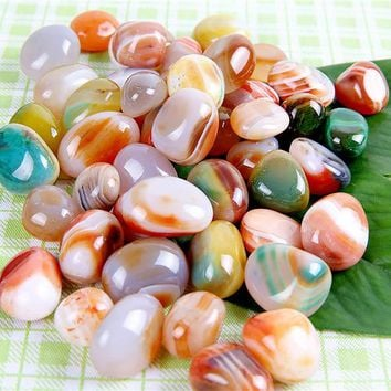 Natural agate stone 100piece Onyx Crystal Reiki Healing Chakra Aventurine Stone Craft Gift  10mm Marble Decorative Stone carving