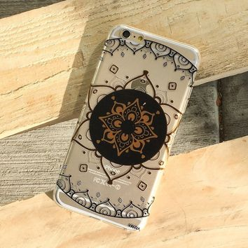 Henna Mantra Mandala - Clear TPU Case Cover Phone Case