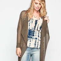 Lira Night Fox Womens Cardigan Olive  In Sizes