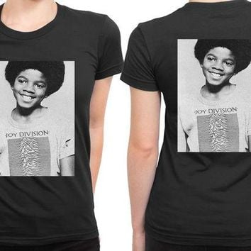 DCCK7H3 Michael Jackson Boy Use Joy Division Tee 2 Sided Womens T Shirt