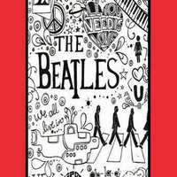 Personalized case-The Beatles On iPhone 5 Case,, iPhone Case-plastic  Iphone cover-iphone 5cover