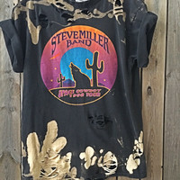 Steve Miller grunge Space Cowboy tour distressed distressed band shirt size large