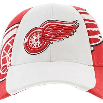 Zephyr Standout Hockey Hat - Detroit Red Wings - X-Large - White/Scarlet