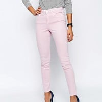 ASOS Ridley High Waist Skinny Jeans in Pink