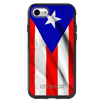 DistinctInk™ OtterBox Symmetry Series Case for Apple iPhone or Samsung Galaxy - Red White Blue Puerto Rico Flag