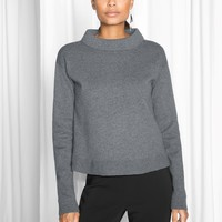 & Other Stories | Wide Collar Sweater | Dark Grey
