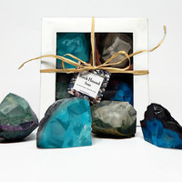 Four Piece Geode Soap Boxed Gift Set