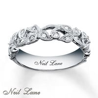 Neil Lane Designs Ring 1/8 ct tw Diamonds Sterling Silver