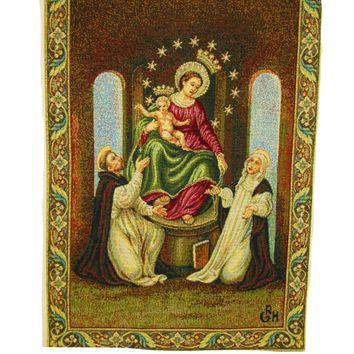 Our Lady of Pompei Tapestry Wall Hanging