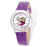 Disney® Frozen Elsa and Anna Leather Tween Watch
