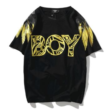 Boy London Summer New Fashion Letter Print Women Men Top T-Shirt Black