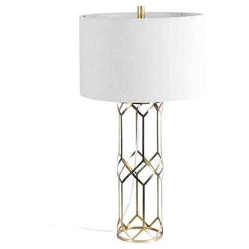 Heathrow Table Lamp ~ Antique Brass