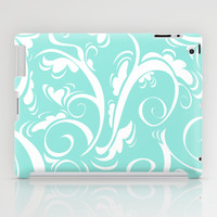 Floral Tiffany Blue iPad Case by Beautiful Homes