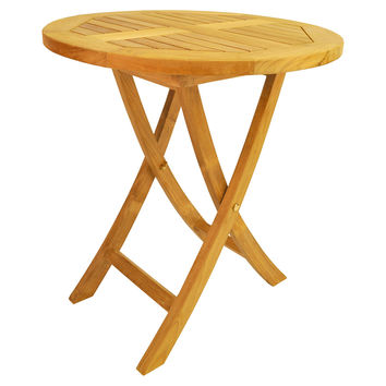 """27"""" Bahama Round Bistro Folding Table, Outdoor Bar Tables"""
