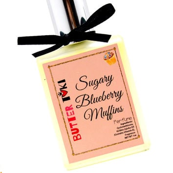 SUGARY BLUEBERRY MUFFINS Fragrance Oil Based Perfume 1oz