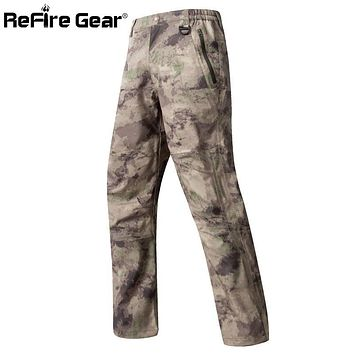 Summer Shark Skin Hard Shell Camouflage Waterproof Pants Men Hardshell Camo Paintball Tactical Military Pants Army Cargo Trouser