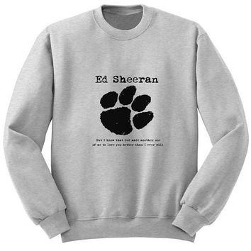 ed sheeran sweater Gray Sweatshirt Crewneck Men or Women for Unisex Size with variant colour