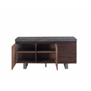 Transitional Wooden Server,Brown-Coaster