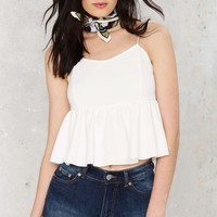 Baby Be Mine Peplum Crop Top