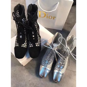 """DIOR"" new summer hollow boots"