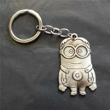 Fashion Vintage Metal Despicable Me Theme Minion Key Chains Keyring Jewelry For Men