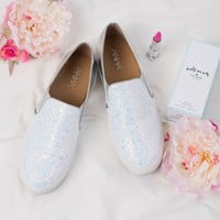 Glitz And Glam Slip On Sneakers (White)