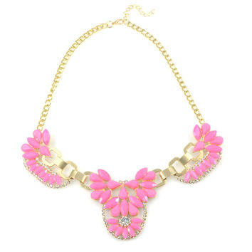 Pink Peony Necklace