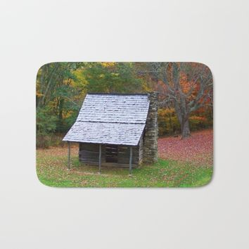 Autumn Blue Ridge Cabin Bath Mat by Scott Hervieux